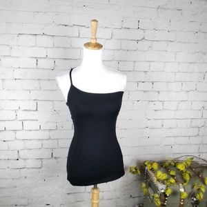 Susana Monaco One Shoulder Camisole Top Blk S & M